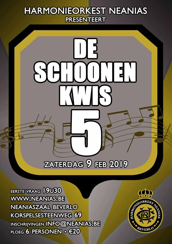 De Schoonen Kwis 5 @ Neaniaszaal | Beringen | Vlaanderen | België