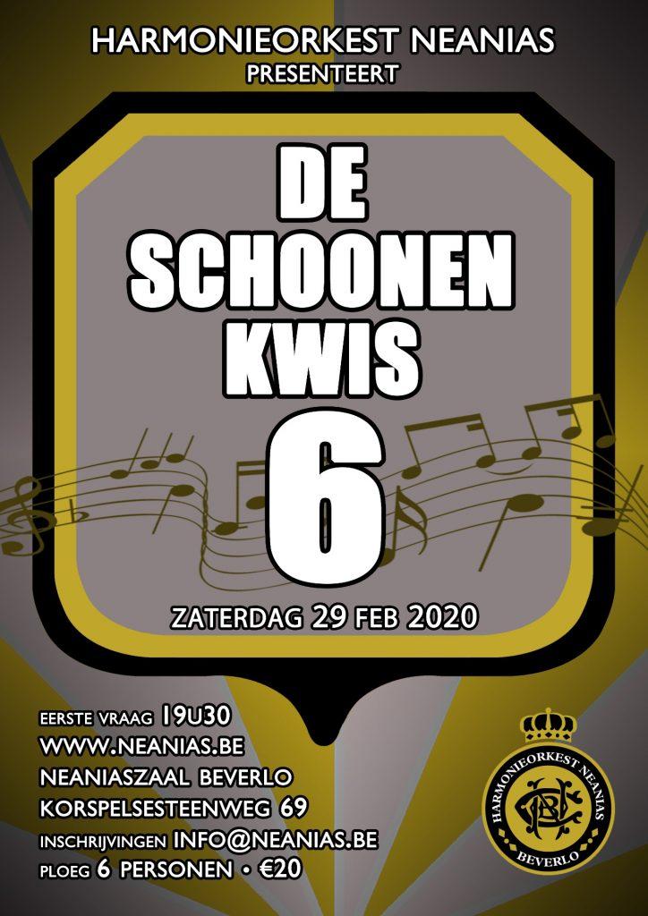 De Schoonen Kwis 6 @ Neaniaszaal | Beringen | Vlaanderen | België